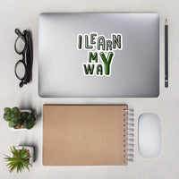 """I Learn My Way"" Green Kid's Bubble-free stickers"
