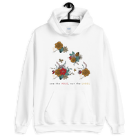 """See the Able Not the Label"" Floral Unisex Hoodie"