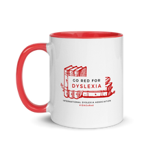 Load image into Gallery viewer, IDA Go Red for Dyslexia Mug with Red Inside