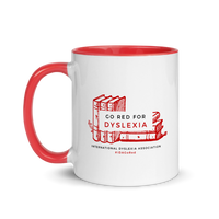 IDA Go Red for Dyslexia Mug with Red Inside