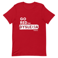 IDA Go Red for Dyslexia Red Short-Sleeve Unisex T-Shirt