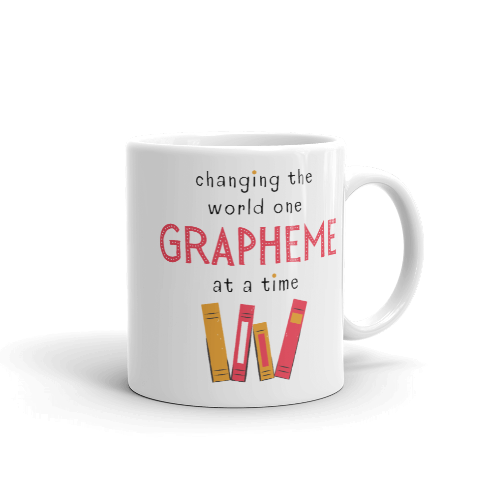 One Grapheme Pink/Orange Mug