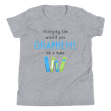 Youth Grapheme Blue Short Sleeve T-Shirt