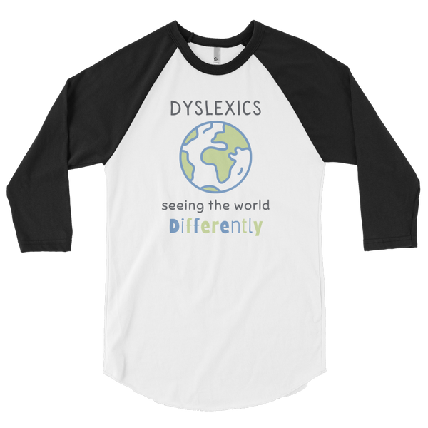 Seeing the World Differently 3/4 sleeve raglan shirt