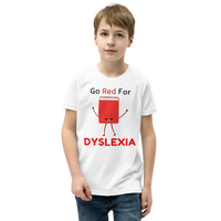 """Go Red for Dyslexia"" Youth Short Sleeve T-Shirt"