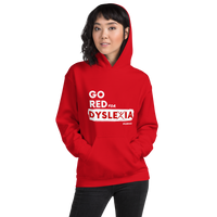 IDA Go Red for Dyslexia Red Unisex Hoodie