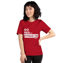 Load image into Gallery viewer, IDA Go Red for Dyslexia Red Short-Sleeve Unisex T-Shirt