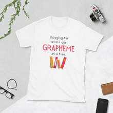 Load image into Gallery viewer, One Grapheme at a Time Pink Short-Sleeve Unisex T-Shirt