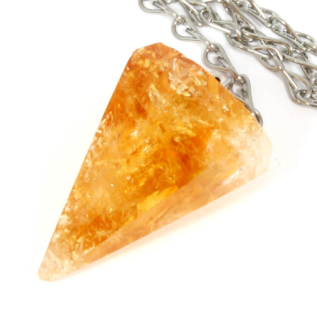 Citrine Faceted Cone Pendulum