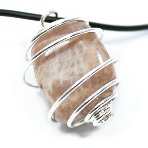 Moonstone Wire Wrapped Necklace