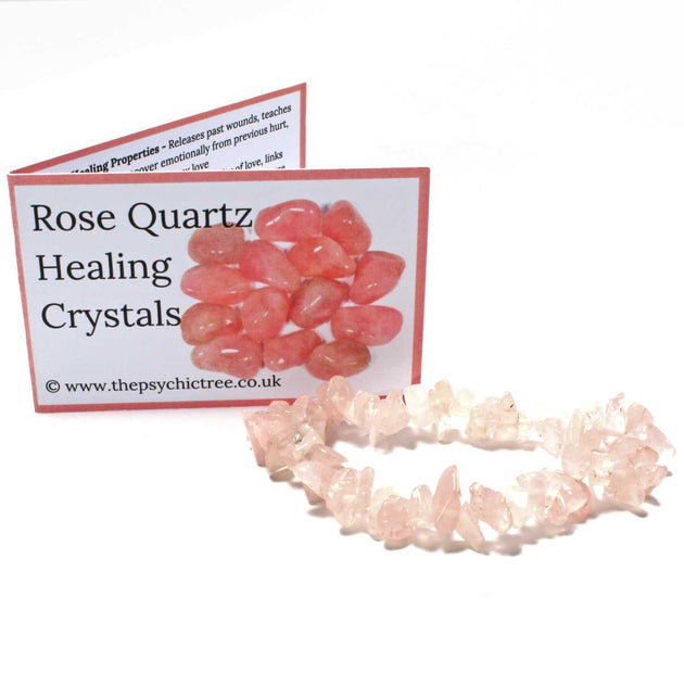 Rose Quartz Stone Chip Bracelet