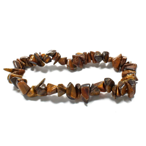 Gold Tigers Eye Stone Chip Bracelet