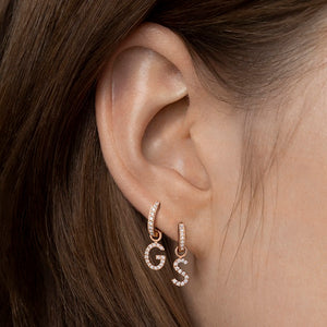Diamond Letter Earring