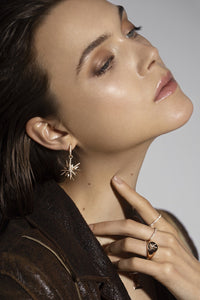 Single Antwerp Star Gold Earring