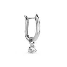 Load image into Gallery viewer, 0,10 ct Diamond Fiji Hoop earring