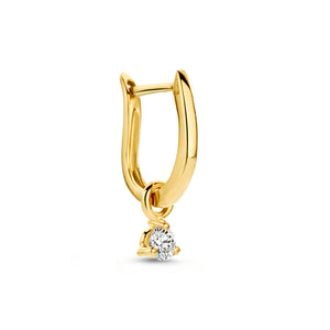 0,10 ct Diamond Fiji Hoop earring