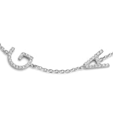 Load image into Gallery viewer, Double Diamond Letter Bracelet