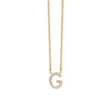 Load image into Gallery viewer, Diamond Letter Necklace