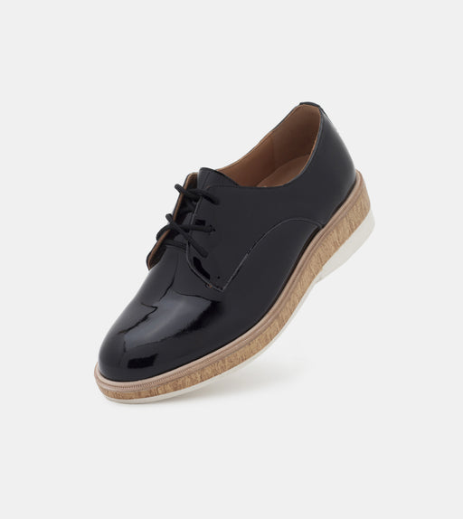 Derby Midsole Cork Black Patent