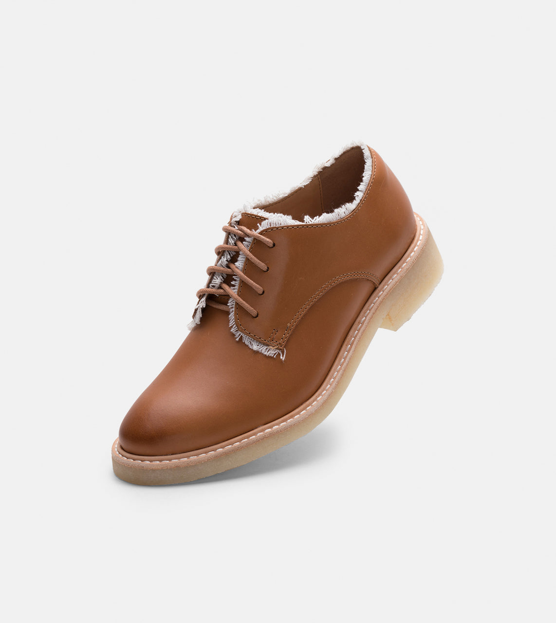 Mira Derby Frayed Cognac Burnish