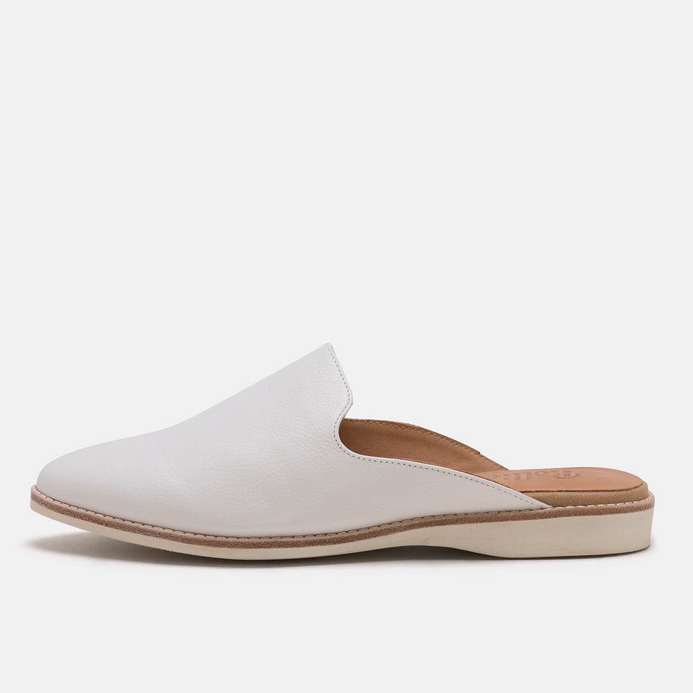 Madison Mule White Unlined