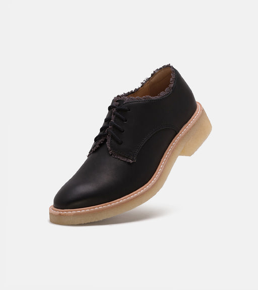 Mira Derby Frayed Black