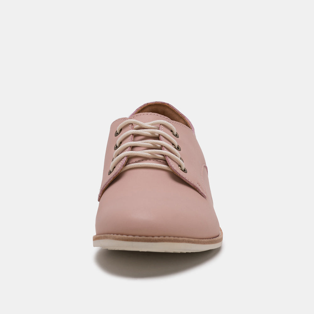 Derby Snow Pink Leather