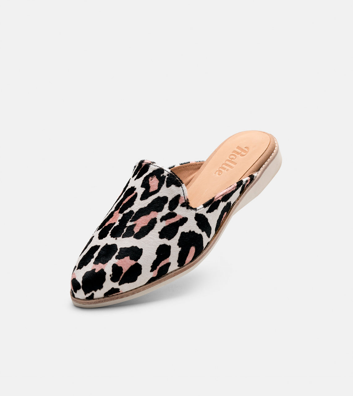 Madison Mule Off White/Pink Wild Cat