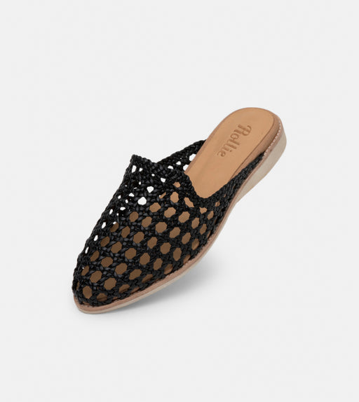 Madison Mule Open Weave Black