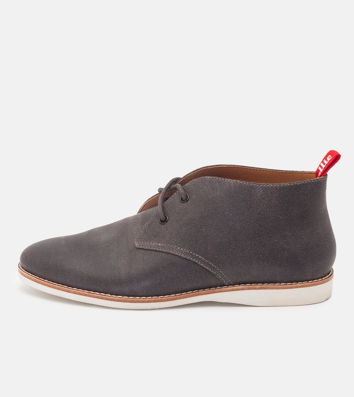 Chukka Mens Charcoal Distressed