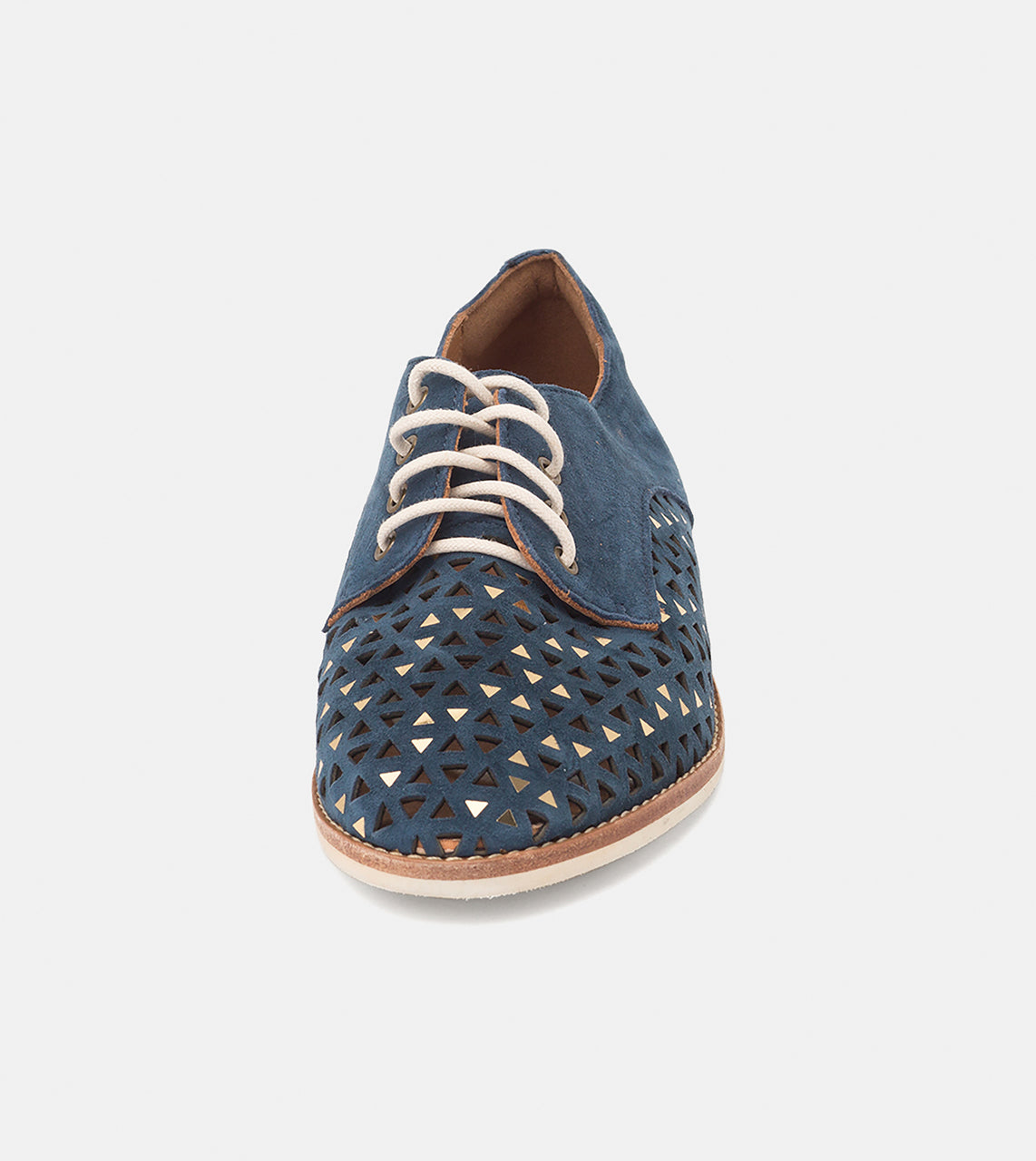 Derby Triangle Punch Navy Suede