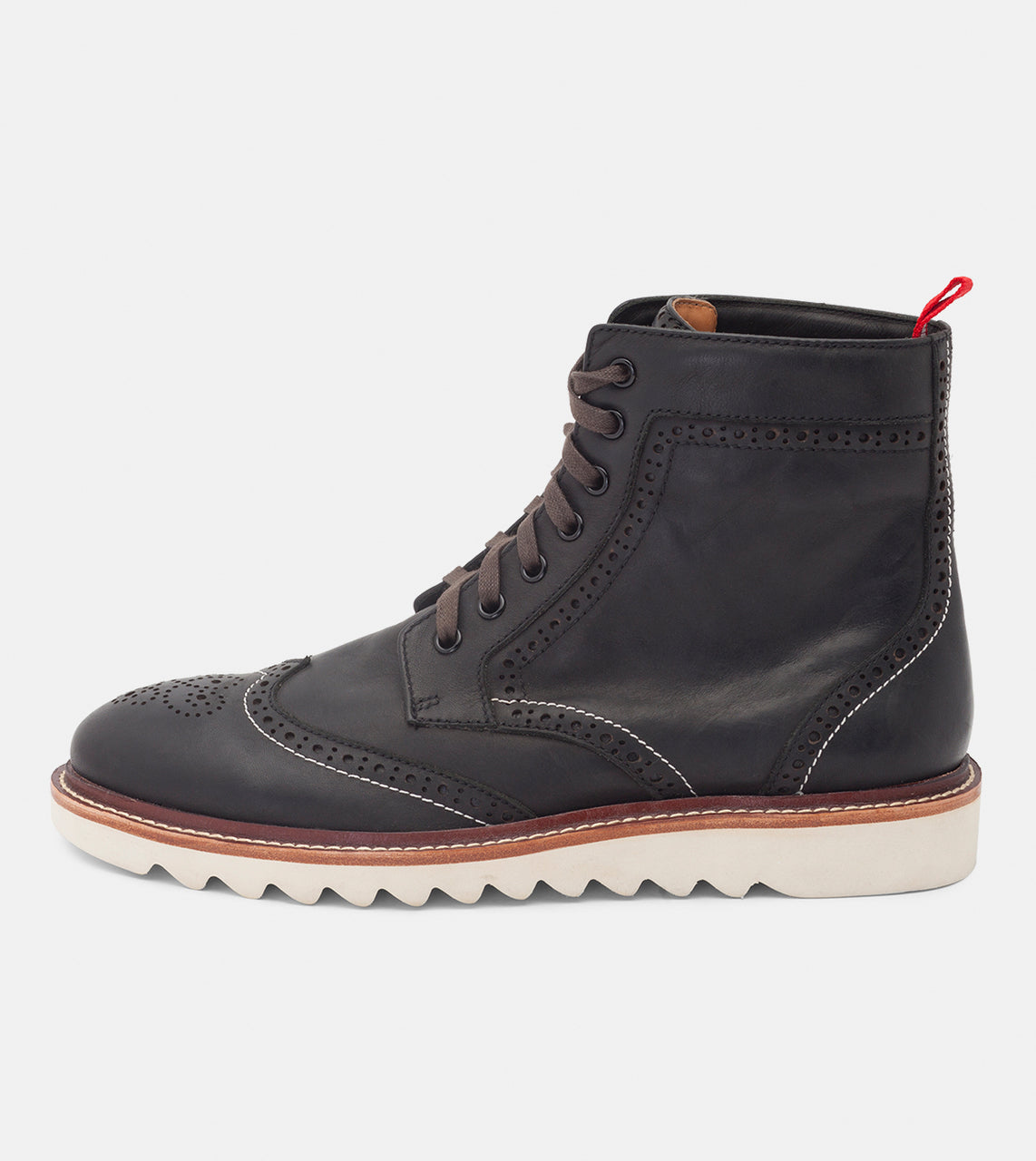 High Brogue Boot W Black