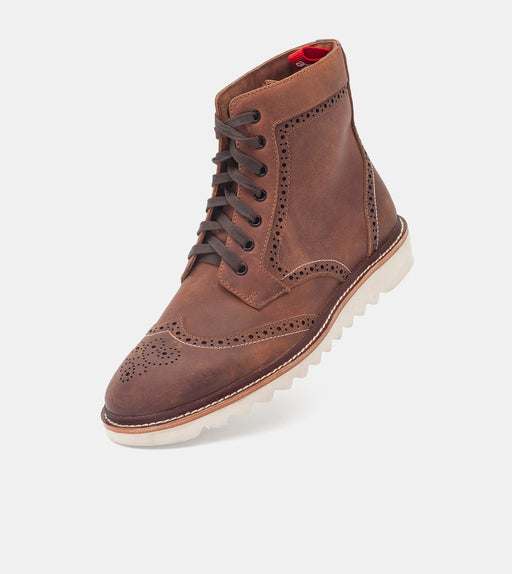 High Brogue Boot W Cognac Burnish