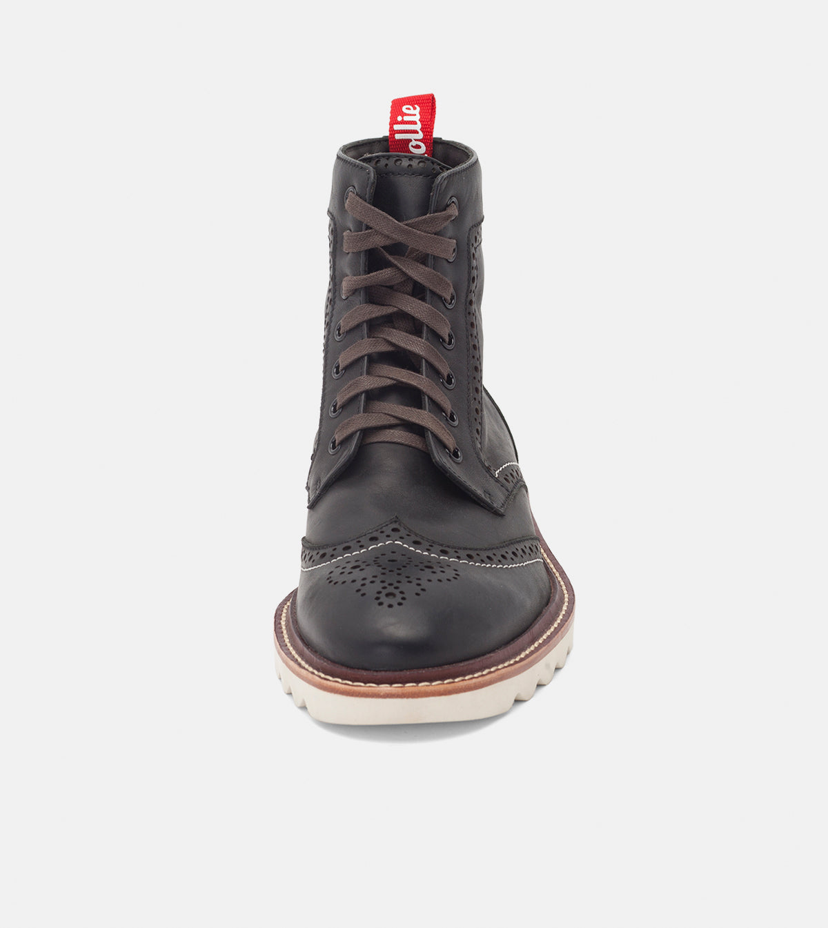 High Brogue Boot Mens Black