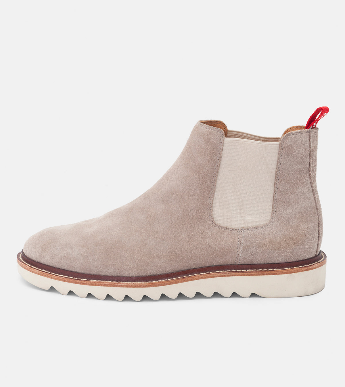 Chelsea Sharktooth Mens Light Taupe Suede