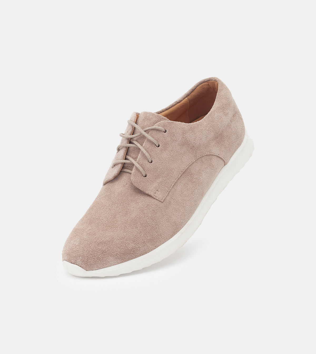 Derby Sport Mens Light Taupe Suede