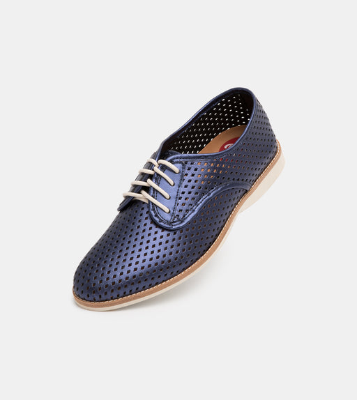 Derby Punch Navy Metallic