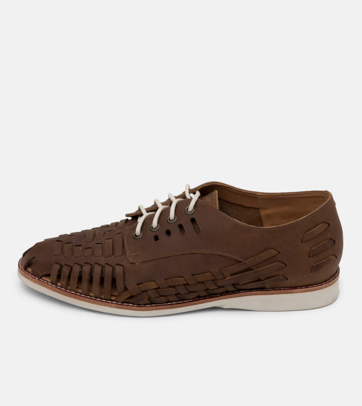 Derby Mens Huarache Coffee Distressed