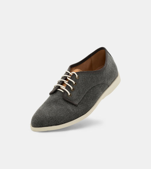 Derby Fly Mens Black Wash Canvas