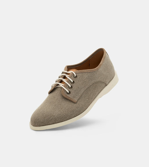 Derby Fly Mens Light Brown Wash Canvas