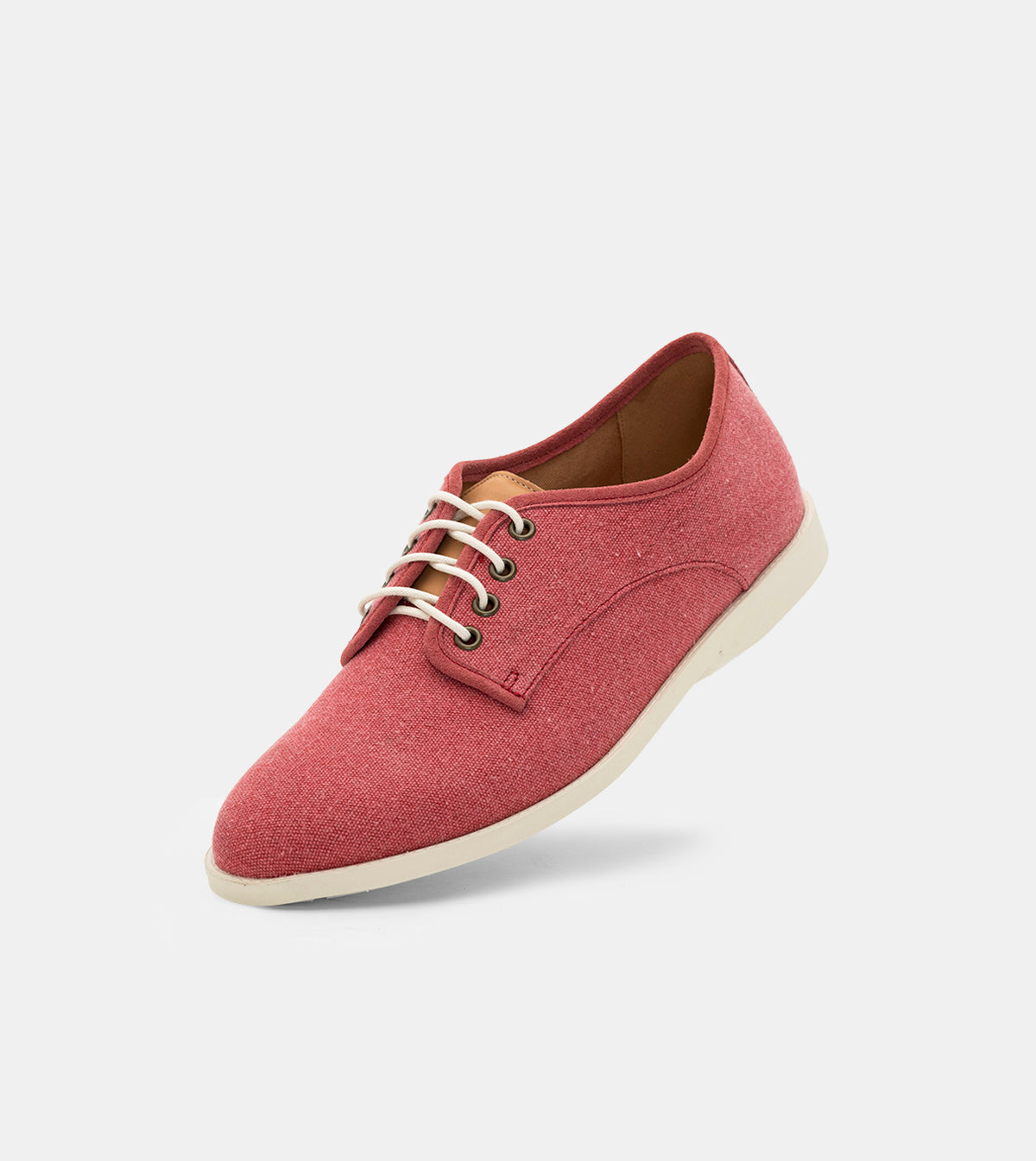 Derby Fly Mens Light Red Wash Canvas