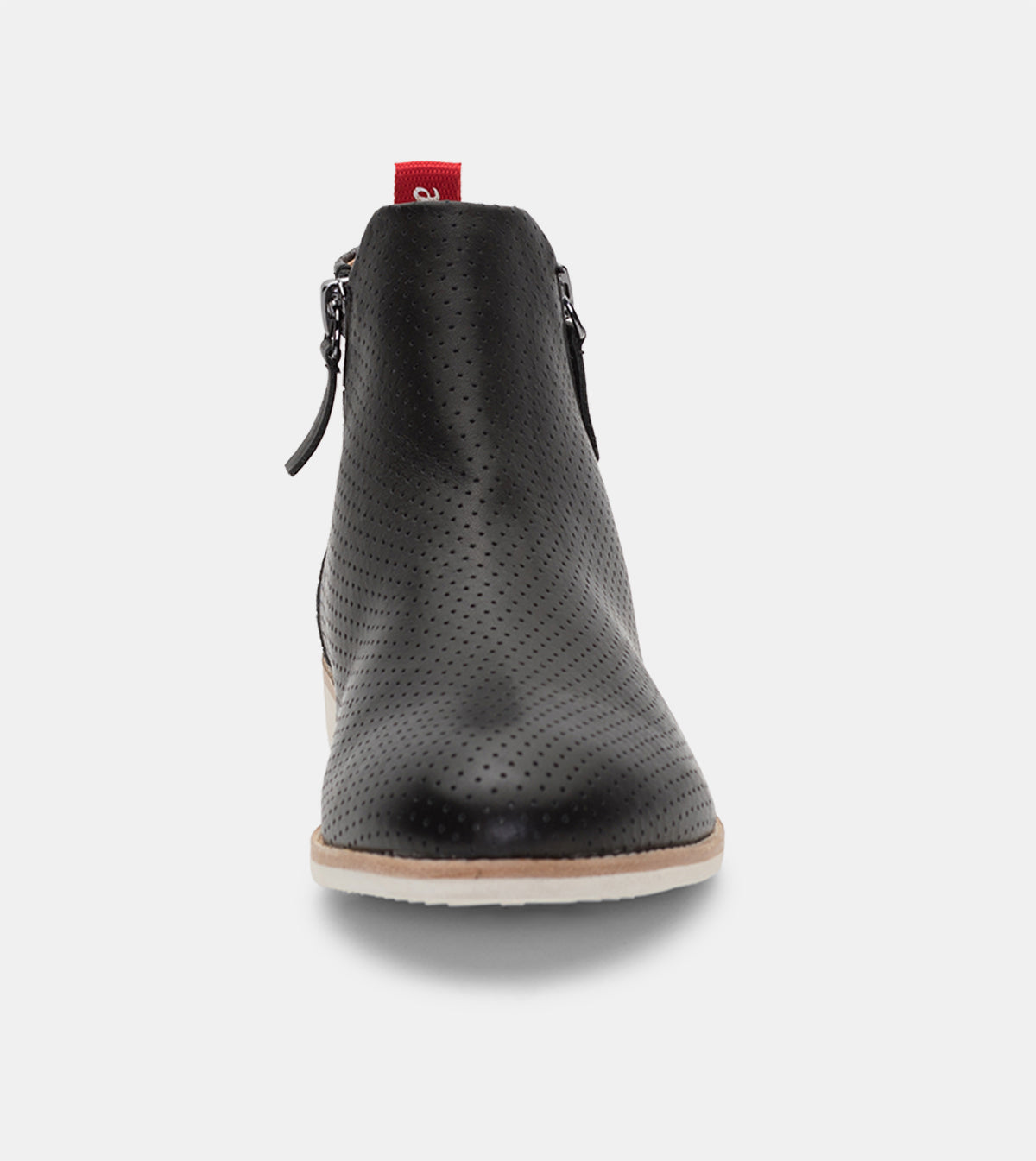 Side Zip Boot Pin Punch Black