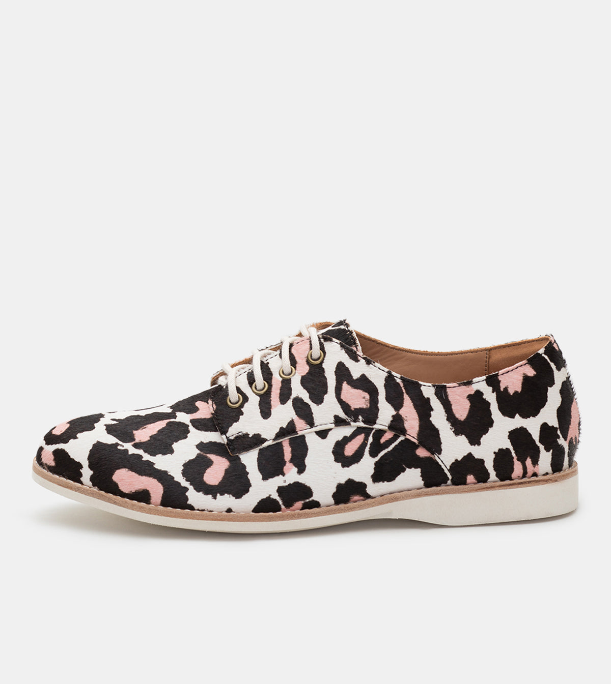 Derby Off White/ Pink Leopard
