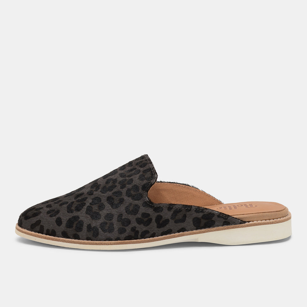 Madison Mule Charcoal Leopard