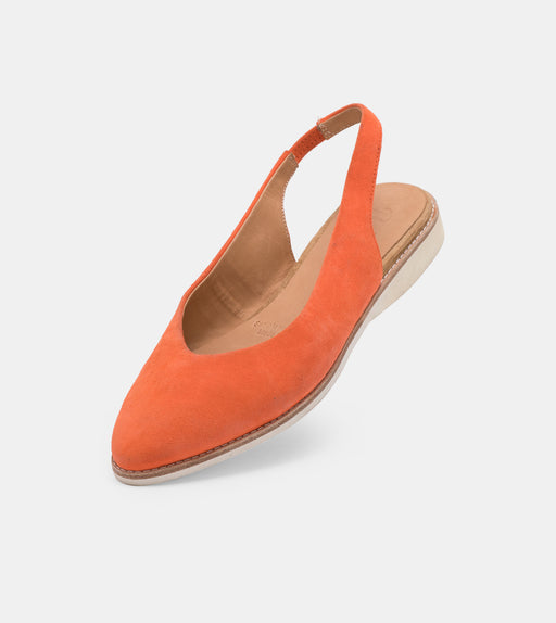 Madison Slingback Coral Suede