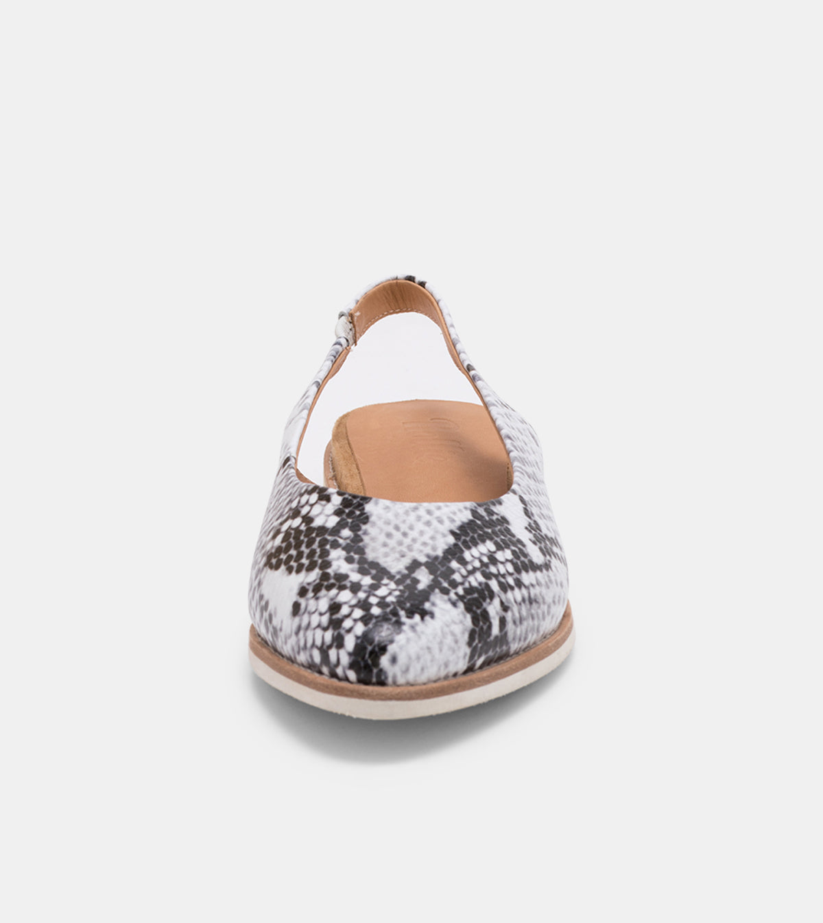 Madison Slingback Grey Snake
