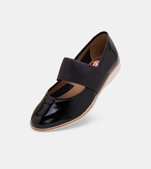 Mary Jane Black Patent Crinkle/Black