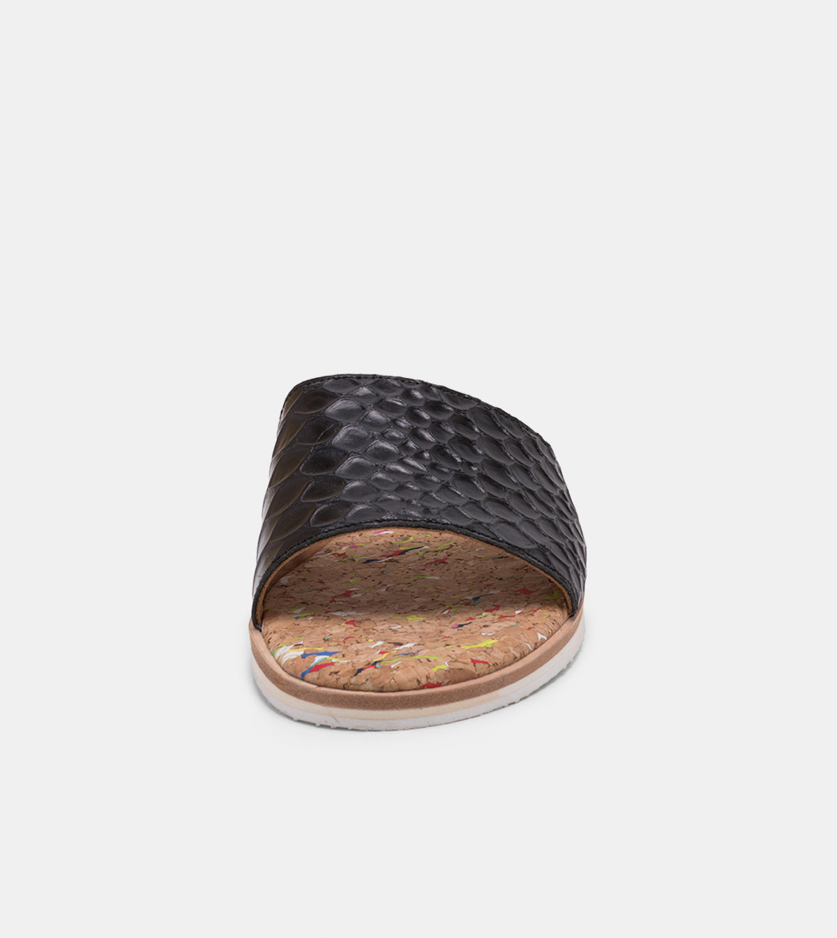 Sandal Slide Black Croc