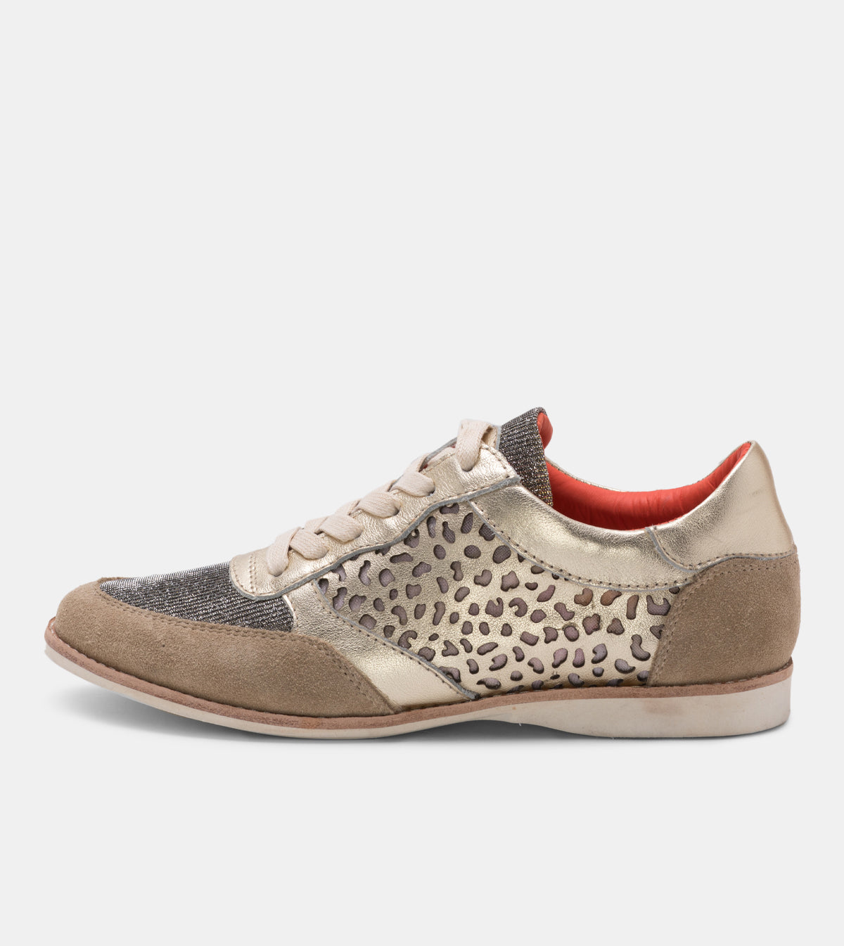 Trainer Punch Taupe/Light Gold