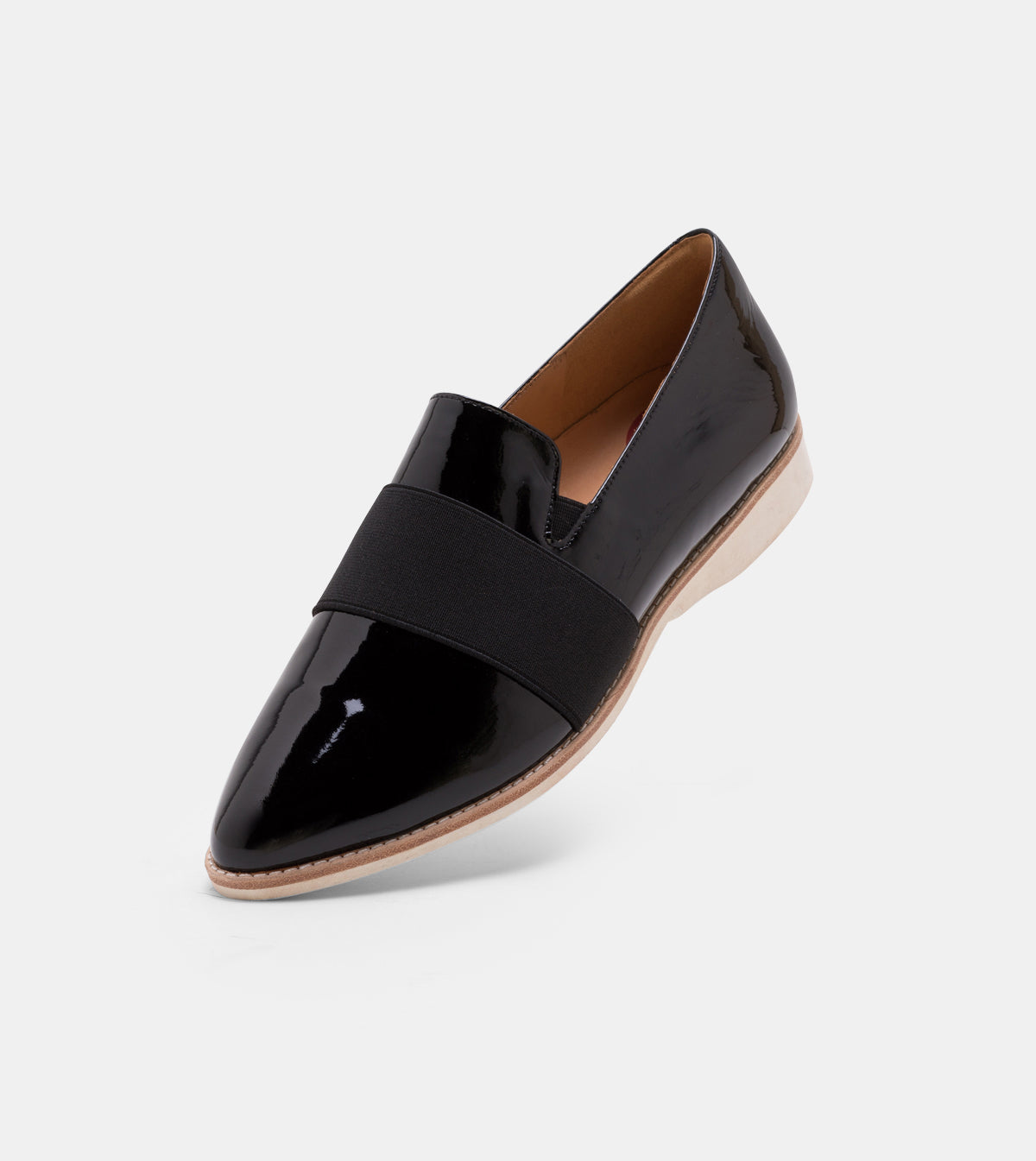 Madison Albert Strap Black Patent Crinkle/Black